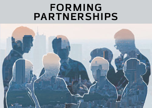 Forming partnerships with key individuals and organizations.